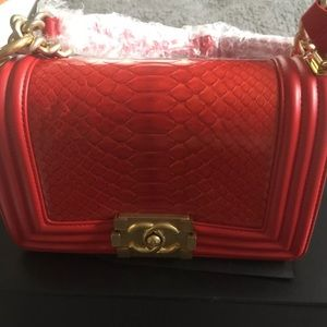 Chanel Red Le boy