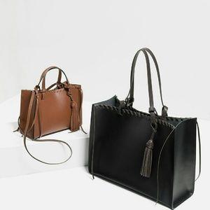  HOST PICK  Zara tassel leather totes  (4099)