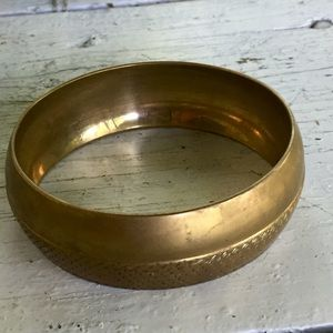 Vintage Bohemian brass bangle bracelet