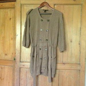 BCBG linen blend long sweater