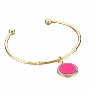 kate spade Jewelry - ✨NWT✨ Kate Spade All That Glitters Pink Drusy Cuff
