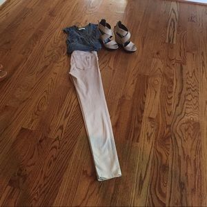 Black Orchid Pants - Black Orchid (Los Angeles) Tan Ombré Skinny Jeans