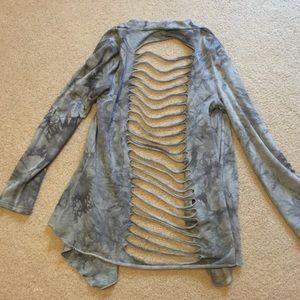 FLASH SALE 10% OFF Tie dye cut back cardigan