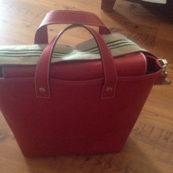 Burberry London cross body red bag 679f9fe91db3e