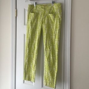 Jacquard ankle pants from Anthropologie