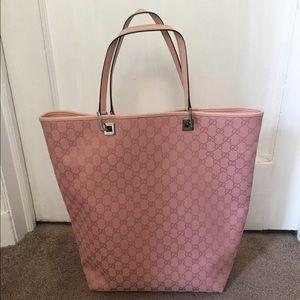 Gucci Handbags - Large Gucci light pink handbag