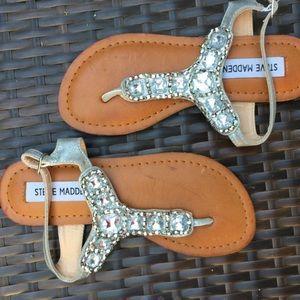 Steve Madden Other - Girls Steve Madden silver crystal sandals