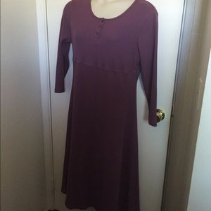Long sleeved plum colored dress. Size XL not worn