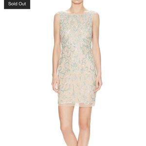 Aidan Mattox Sequined Beaded Sheath