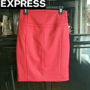 Express Dresses & Skirts - Express Red Pencil Skirt Size 2