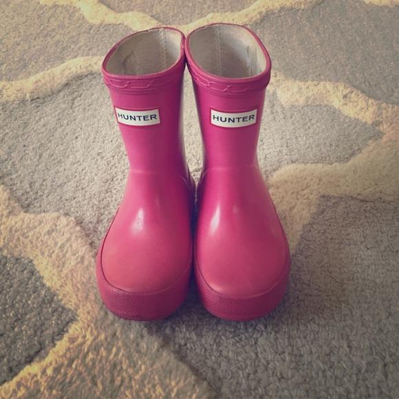 Pink Hunter Rain Boots | Poshmark