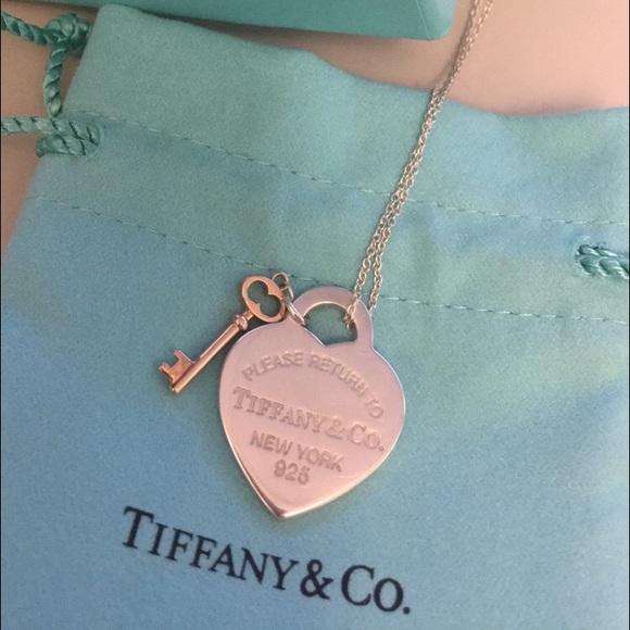 Tiffany Co Jewelry Tiffany Co Return To Tiffany Heart Key Pendant Poshmark