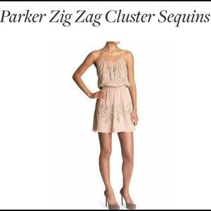 PARKER CLUSTER SEQUIN MINI DRESS