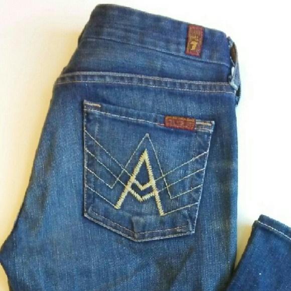 7fam bootcut super jeans in dieser saison. Black Bedroom Furniture Sets. Home Design Ideas