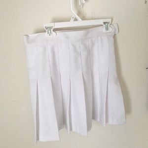 American Apparel brand white tennis skirt