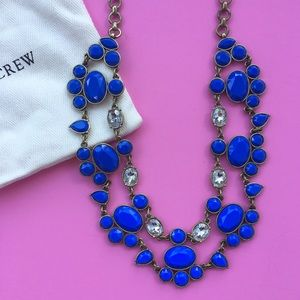 J. Crew Cobalt Blue Statement Necklace