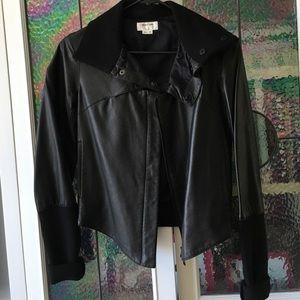 Helmut Lang black leather jacket