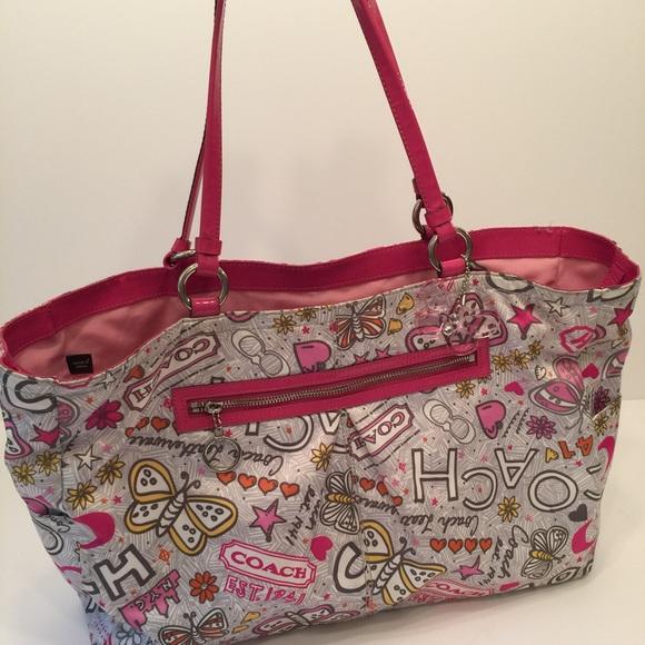 coach bags weekender overnight bag poppy 18041 poshmark rh poshmark com