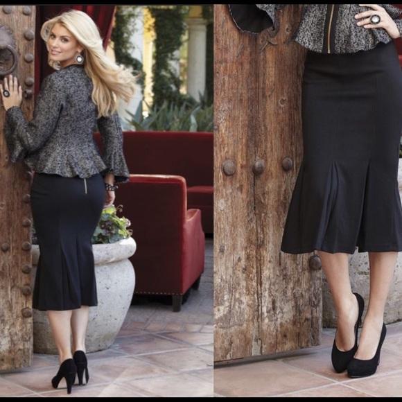bd2e68f9900 Fishtail Ponte Knit Skirt