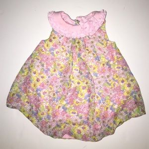 Baby Essentials Other - Bubble Hem Baby Girl Floral Dress One Piece 6M