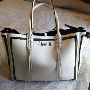 Lanvin Handbags - Lanvin Tassel Handle Leather Tote