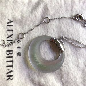 Alexis Bittar circle necklace