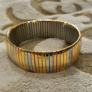 Steel by Design~Tri-color stretch bangle Bracelet