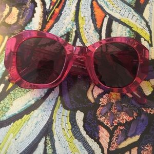 Karen Walker Accessories - Karen Walker Fuchsia Patsy Sunglasses