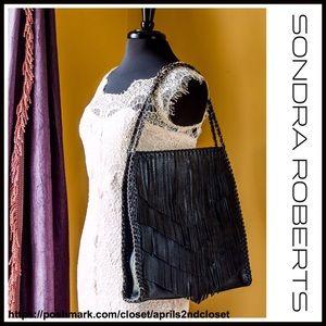 Sondra Roberts  Handbags - ❗️1-HOUR SALE❗️VEGAN LEATHER FRINGED HOBO