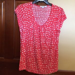 Boden Tops - Orange and white tee