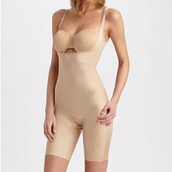 cca012cf687  Skinny Britches  Open Bust Mid-Thigh Bodysuit. M 5793de9741b4e0ca6e00d3aa
