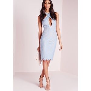 Missguided Dresses & Skirts - NWT Missguided Blue Lace Cut Out Dress