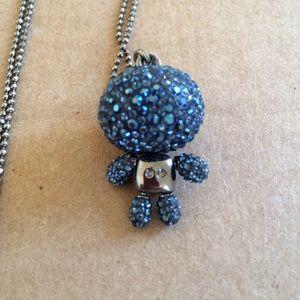 b244aecabd20b Evil robot Swarovski long necklace