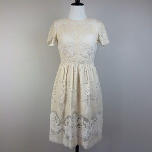 Topshop Dresses & Skirts - Topshop Petite Ivory lace dress