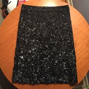 All Saints Sequined Pencil Skirt