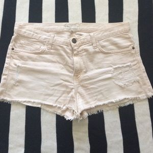 Current/Elliott Boyfriend Shorts, off-white