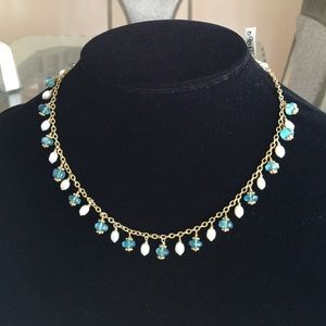 SWD Jewelry - 14K Gold Filled Apatite and Pearl Necklace, NWT