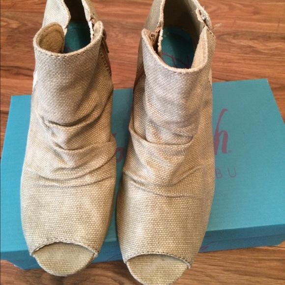 c073bead586d Blowfish Shoes - Blowfish peep toe wedge bootie