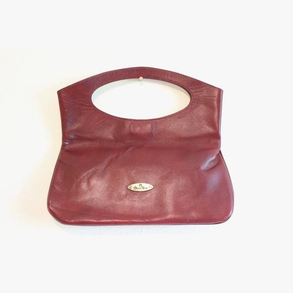 d6000d62d1b22 Vintage Clutch, Etienne Aigner, Oxblood Leather. M_5793f3f62ba50ab3fc04a406