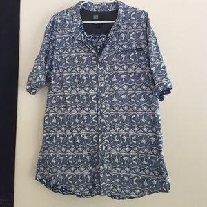 XL Men's Blue O'Neill Collared Button Up Shirt