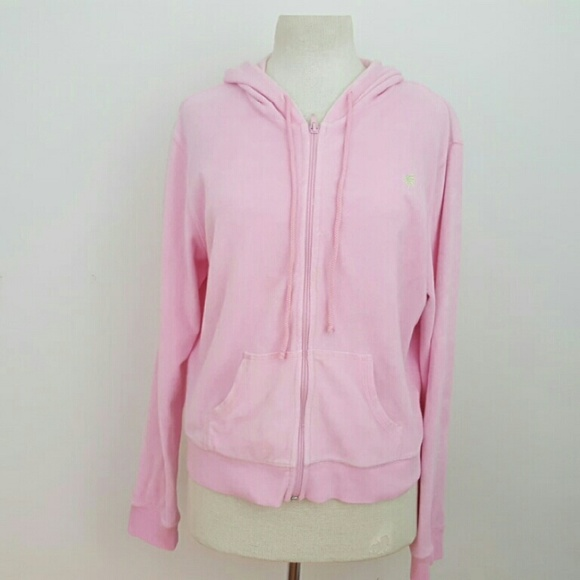 91% off Lilly Pulitzer Tops - Lilly Pulizter Light Pink Zip Up ...