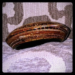 CC Skye Jewelry - Chic CC Skye Copper & Black Lucite Thick Bangle!