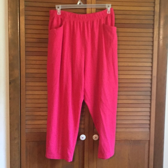 Basic Editions Other - Plus size 1X pink pajama pants 9d21dc5c6
