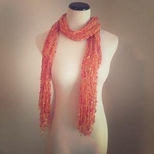 Accessories - orange Italian scarf