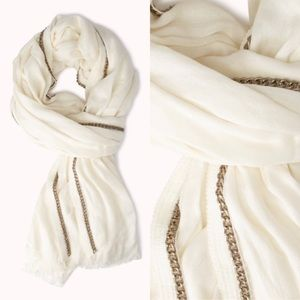 FOREVER 21 Chain-Trimmed Scarf