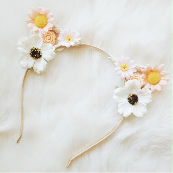 Forever 21 Accessories - cat ear floral headband 3352784cc4f