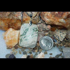 "handmade & handcrafted gemstone jewelry Jewelry - Pretty Earthy Dallasite Jasper Pendant 2 1/8"""