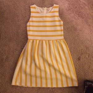 Yellow and white stripe dress
