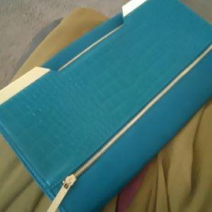 Olivia + Joy Handbags - Alice & Olivia Classy Sea Green Clutch