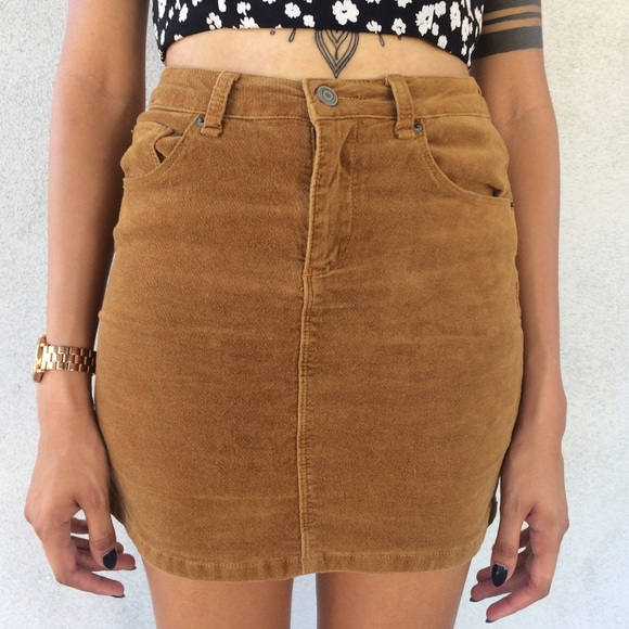 42212ccc2c Brandy Melville Dresses & Skirts - Tan Corduroy Brandy Melville Pencil Skirt